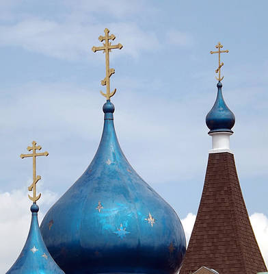 Photograph - Orthodox Onion Domes by Joyce  Wasser