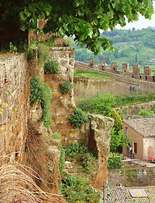 Photograph - Orvieto Battlement by Ellen Henneke