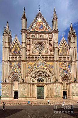 Umbria Photograph - Orvieto Duomo by Inge Johnsson