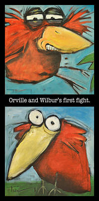 Digital Art - Orville And Wilburs First Flight by Tim Nyberg
