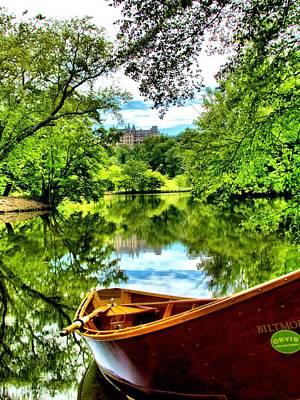 Biltmore Photograph - Orvis Rowboat In Biltmore Lagoon by Carol R Montoya