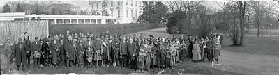 White House Photograph - Osage Indians Washington Dc by Fred Schutz Collection
