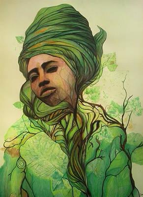 Drawing - Osanyin by Bernadett Bagyinka