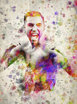 Fight Digital Art - Oscar De La Hoya by Aged Pixel