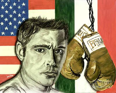 Golden Glove Painting - Oscar De La Hoya by Israel Torres