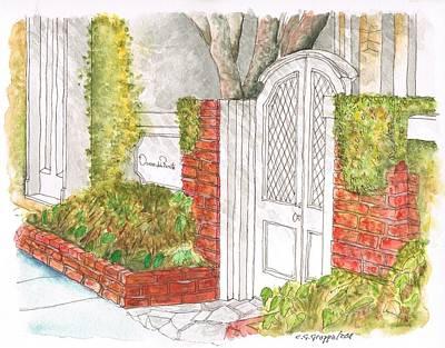 Oscar De La Renta Office Entrance In Melrose Place - West Hollywood - California Art Print