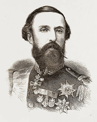 Norway Drawing - Oscar II., King Of Sweden And Norway by Litz Collection