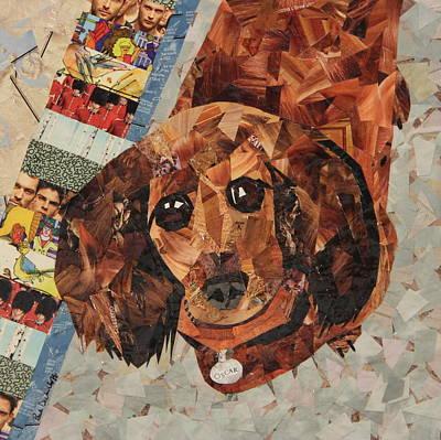 Dachshund Puppy Drawing - Oscar by Paula Dickerhoff