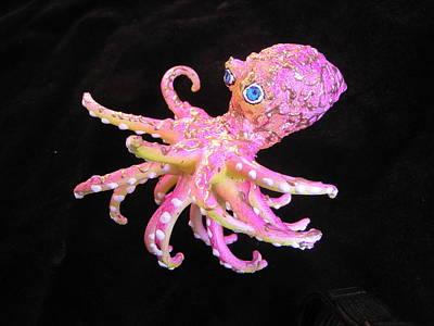 Mixed Media - Oscar The Octopus by Dan Townsend