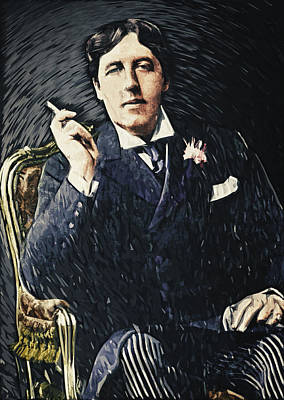 Victorian Era Digital Art - Oscar Wilde by Taylan Apukovska