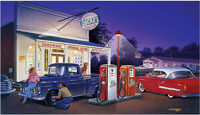 Oscar's General Store Print by Bruce Kaiser