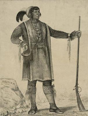 Fringe Jacket Photograph - Osceola, Seminole Chief Of Florida by Everett