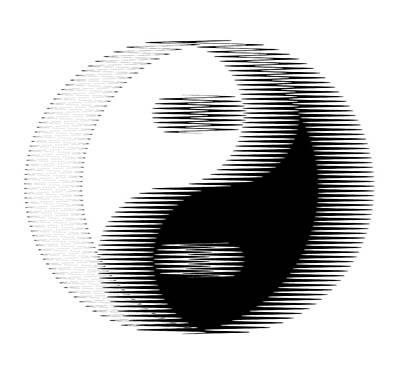 Opposing Forces Digital Art - Oscilloscopic Yin Yang by Daniel Hagerman