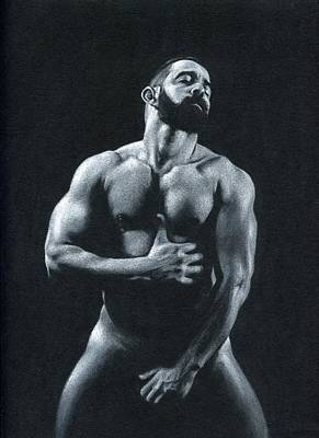 Male Nude Drawing Drawing - Oscuro 11 by Chris Lopez