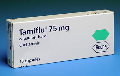 Oseltamivir Anti-viral Drug Art Print by Public Health England