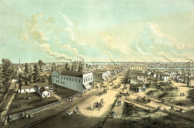 Oshkosh, Wis. From H.l. Cottrills Block Lith Art Print by Litz Collection