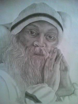 Osho Art Print by Milind Badve