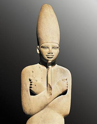 Statue Portrait Photograph - Osiriphorm Statue Of Mentuhotep IIi by Everett