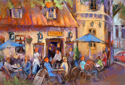 Old Street Painting - Oslo Al Fresco by Joan  Jones