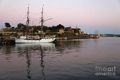 Oslo Harbor At Sunset Art Print