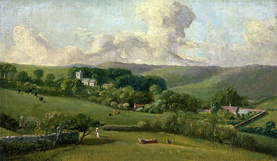 Osmington A View To The Village, John Fisher Art Print by Litz Collection