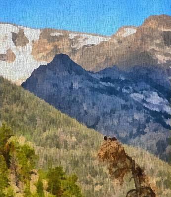 Osprey Mixed Media - Osprey Nest In Rocky Mountain National Park by Dan Sproul
