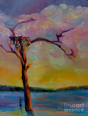 Painting - Osprey Nest - Lake Sam Rayburn by Vicki Brevell
