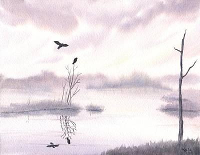 Ospreys At Dawn Art Print by Anna Bronwyn Foley