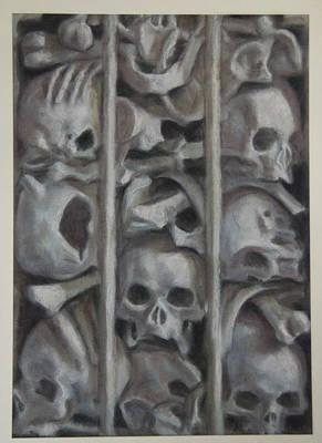 Ossuary Art Print by Paez  Antonio