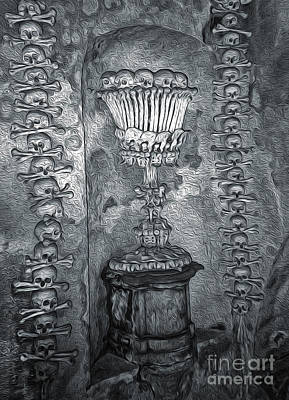 Painting - Ossuary Sedlec - Chalace by Gregory Dyer