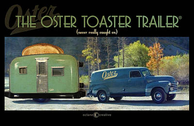 Oster Toaster Trailer Art Print by Tim Nyberg