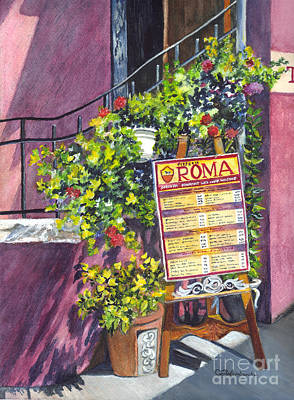 Painting - Osteria Roma by Carol Wisniewski
