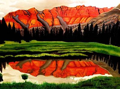 Painting - Ostler Peak by Victoria Rhodehouse