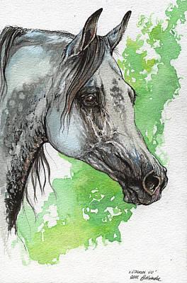 Ostragon Polish Arabian Horse Painting 1 Original by Angel  Tarantella