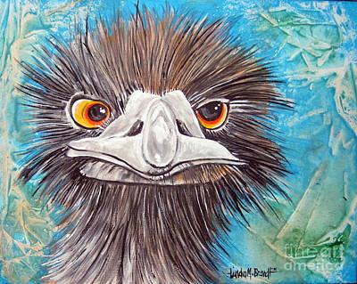 Ostrich Mixed Media - Ostrich by Linda Brandt