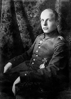 Oswald Boelcke Art Print by Library Of Congress