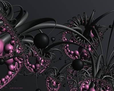 Digital Art - Other Garden 2 A 3d Fractal by Judi Suni Hall