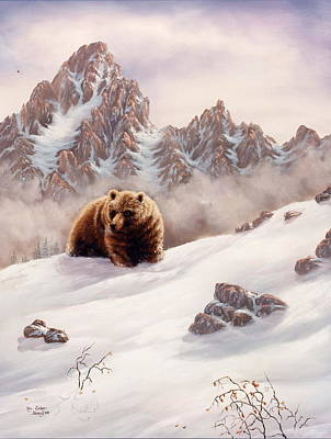 Bear Painting - Other Side Of The Mountain by Lori Salisbury
