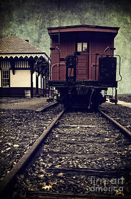 Caboose Photograph - Other Side Of The Tracks by Edward Fielding