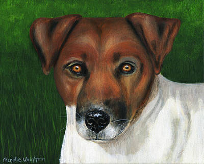 Otis Jack Russell Terrier Art Print by Michelle Wrighton