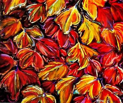 Modern Art Painting - Otono by Barney  Ortiz