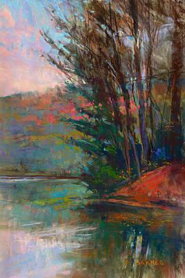Pastel - Otsego Reflections by Greg Barnes