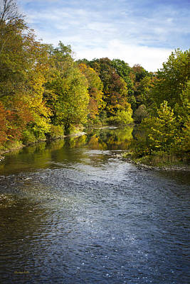 Photograph - Otselic River Fall Foliage by Christina Rollo