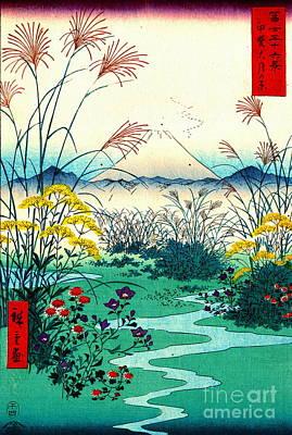 Ando Hiroshige Photograph - Otsuki Fields In Kai Province 1858 by Padre Art