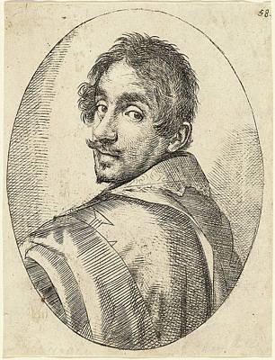 Self-portrait Drawing - Ottavio Leoni, Self-portrait, Italian by Quint Lox