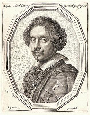 Self-portrait Drawing - Ottavio Mario Leoni Italian, 1578 - 1630. Self-portrait by Litz Collection