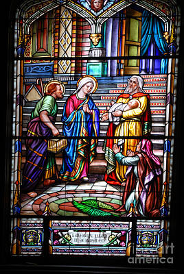 Photograph - Ottawa Cathedral Window by Brenda Kean