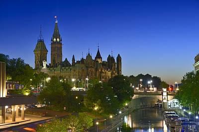 Photograph - Ottawa Downtown Dusk by Tony Beck