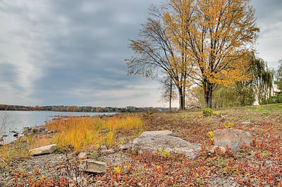 Photograph - Ottawa River In The Fall. Between Champlain Bridge And Remic Rapids. by Rob Huntley