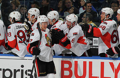 Scoring Photograph - Ottawa Senators V Buffalo Sabres by Bill Wippert